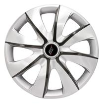 """Calota Universal modelo Prime Aro 13"""" Silver/Graphite Parafuso - Elitte"""