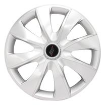 "Calota Universal modelo Prime Aro 13"" Silver Parafuso Elitte -"