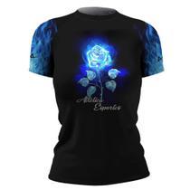 Cam Lycra Surf Blue Flower Femi MC Térm ATL - Atlética Esportes