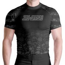 Cam Rash Guard Black Skull MC Térm ATL - Atlética Esportes