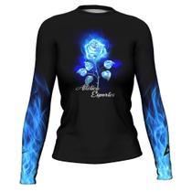 Cam Rash Guard Blue Flower Femi Surf Prot S ATL - Atlética Esportes