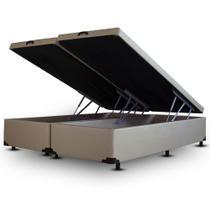 Cama Box Baú Bipartido Frontal V-Joy KING SIZE Corano Areia - 193x203 -