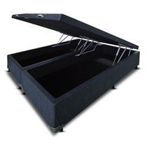 Cama Box Baú Bipartido Frontal V-Joy QUEEN SIZE Linho Bege Palha - 158x198 Copy -