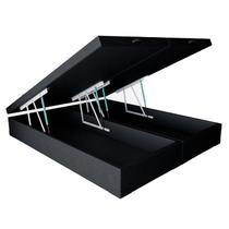 Cama Box Baú Queen - Tecido Sintético Preto - Bello Box