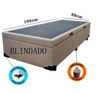 Cama Box Baú Solteiro Blindado Com Pistão A Gás - Imperium do Sono