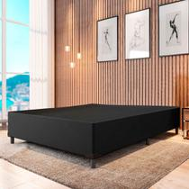 Cama Box Casal 1,38m com 38cm de Altura Suede Prince Preto -