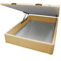 Cama Box CASAL Bau Frontal Pistão Corano Areia  138x188 - Cosmopolita