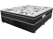 Cama Box Casal (Box + Colchão) ProDormir Colchões Mola 30cm de Altura Sensitive Born Black