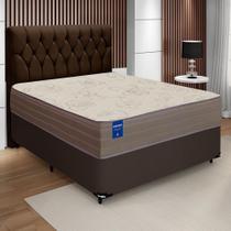 Cama Box Casal Colchão De Espuma D33 Orthotec 138x188x70cm Inducol Marrom -