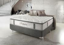 Cama Box Casal Hellen Belvedere com Mola Ensacada PillowTop Lateral 74x138x188cm - Hellen colchões e estofados