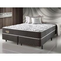 Cama Box Casal King Size com Molas ensacadas Relax Adorabile Marrom - 193X203X63Cm - Ecoflex