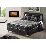 Cama box casal padrão com molas ensacadas relax adorabile preto - 138x188x63cm - Ecoflex