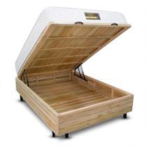 Cama Box + Colchão Dabe Hotel CASAL Bau Rustic - Molas Bonnel - 128x188 - Casal Antigo -