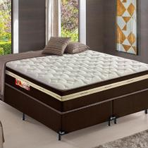 Cama Box + Colchão de Mola King Plus 193x203 Xicoria Confort Hellen -