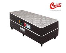 Cama box + Colchão Espuma Castor Casal Sleep Max D45 - Solteiro -