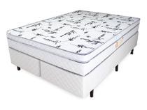 Cama Box + Colchão King Relaflex Marquis Mola Verticoil 193x203x21 -