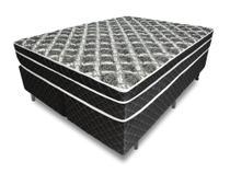 Cama Box + Colchão King Relaflex Repousant Mola Ensacada 193x203x21cm - Relaflex colchões