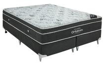 Cama Box+Colchão King Size Ortobom Exclusive 186x198x55