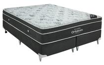 Cama Box + Colchão Queen Size Ortobom Exclusive 158x198x55 -