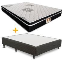 Cama box + Colchão Sempre Firme Casal D65 Pillow - Espuma - 138X188 - Copel Colchões