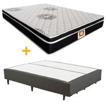 Cama box + Colchão Sempre Firme Queen D65 Pillow - Espuma - 158X198 - Copel Colchões