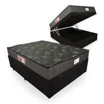 Cama Box Com Baú Casal + Colchão De Espuma D23 - Prorelax - Sienna 14x188x138cm -