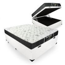 Cama Box Com Baú Casal + Colchão De Molas - Probel - Prodormir Sleep Black 138cm -