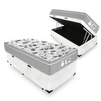 Cama Box Com Baú Solteiro + Colchão De Molas Ensacadas - Probel - Evolution 88cm -