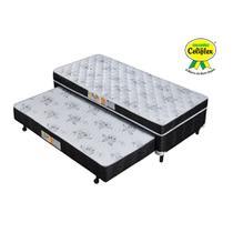 Cama Box Conjugada Solteiro com Cama Auxiliar Espuma D28 88x188x52 Poliéster - Celiflex -