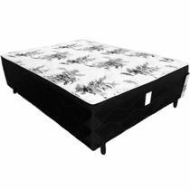Cama Box Conjugado Casal Espuma e Estrutura Ortopédica 138x188x43 - Fábrica De Tudo
