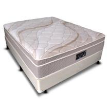 Cama box + Dabe La Luna CASAL ANTIGO - Molas Ensacadas - 128x188 -