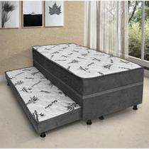 Cama Box Elegance Solteiro Diamante (88x53x188) com Auxiliar -