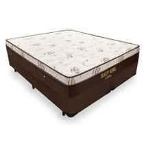 Cama Box King + Colchão De Molas Ensacadas - Ortobom - Sleep King 193cm