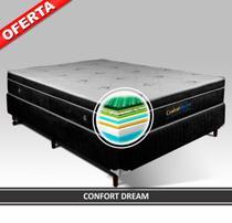 Cama Box Magnético Casal Confort Dream 1,38x1,88x0,60 (Colchão + Box) - Golddream