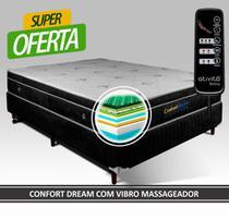 Cama Box Magnético King Size Confort Dream Com Vibroterapia (Colchão + Box) - Golddream