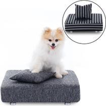 Cama Box Para Cachorro + 2 Travesseiros + 2 Capas - Caminha Pet - BF Colchões -
