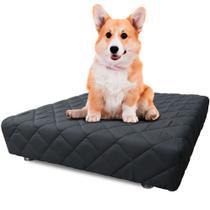 Cama Box Pet 50x50x14cm Com Lençol Impermeável Branco Para Cachorros e Gatos - Caminha Pet - BF Colchões -