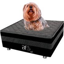 Cama Box Pet Com Lençol Impermeável Branco Para Cachorros e Gatos 60x60x24cm - Caminha Pet - BF Colchões -