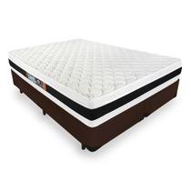 Cama Box Queen + Colchão De Espuma D45 - Castor - Black White Double Face 158cm