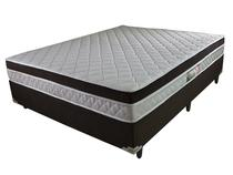 Cama Box Queen + Colchão de Molas Ensacadas e Pillow Diamond (158x198x58 ) - Marrom - Rifletti estofados