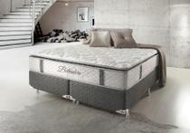 Cama Box Queen Hellen Belvedere com Mola Ensacada PillowTop Lateral 74x158x198cm - Hellen colchões e estofados