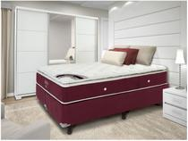 Cama Box Queen Size (Box + Colchão) Ortobom Mola - Exclusive Diamond
