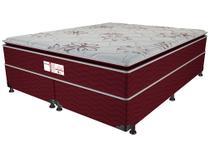 Cama Box Queen Size (Box + Colchão) ProDormir Mola - Ensacadas/Pocket 54cm de Altura Style Bordô