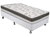 Cama Box Solteiro (Box + Colchão) Ortobom Mola - 44cm de Altura Physical Luna Silver