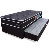 Cama Box Solteiro Colchão Molas Ensacadas Com Pillow e Box Colchão Bicama Espuma 88x188x58cm - BF Colchões -