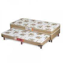 Cama Box Solteiro Conjugado 41cmx88cmx188cm com Auxiliar Aspen Ortopédico Hellen Caqui - Hellen colchões
