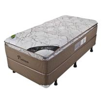 Cama Box Solteiro Platinum New Pillow Top One Side - 88x188x57cm - Luckspuma