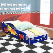 Cama Carro 96 Infantil - Royal / Branco - RPM Móveis -