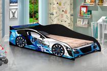 Cama Carro Drift Infantil- Azul J&A Moveis -