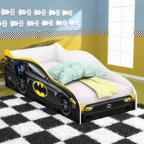Cama carro infantil batman preto c/ colchao rpm lojas movex - mmn móveis - Mmmn Móveis